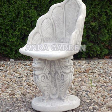 Fotel ogrodowy betonowy