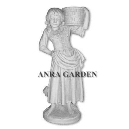 Donica - figura dziewczyny z koszem
